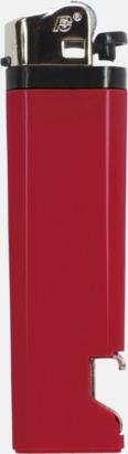 Röd Engångständare med kapsylöppnare - med reklamtryck