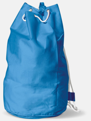 Blå Sjömansväska i bomull med eget tryck