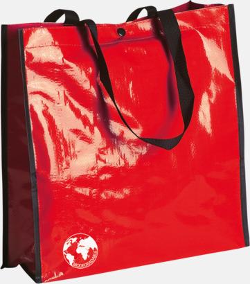 Röd Biologiskt nedbrytbara shoppingbagar med reklamtryck