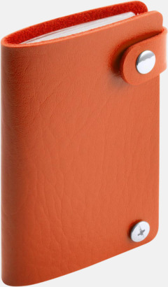 Orange Visitkortsmappar med reklamtryck