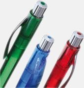 Billiga och stiliga plastpennor med reklamtryck