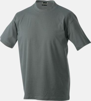 Mörkgrå Barn t-shirtar av kvalitetsbomull med eget tryck