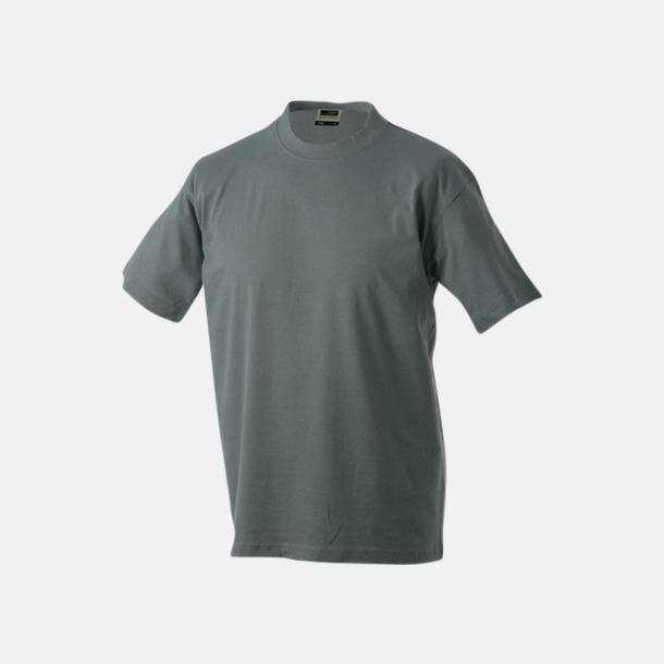 Mörkgrå (solid) Barn t-shirtar av kvalitetsbomull med eget tryck