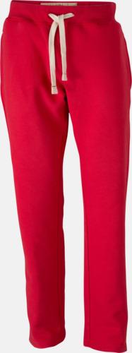 Röd (herr) Färgglada mjukisbyxor i herr- och dammodell med reklamtryck