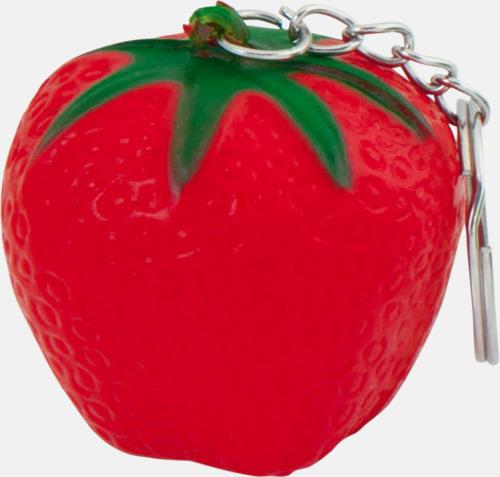 Jordgubbe Stressbollar i form av olika frukter - med reklamtryck