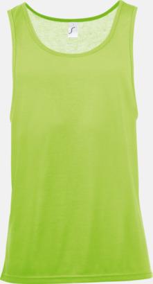 Neongrön Sublimeringsbara oversize linnen i unisexmodell med reklamtryck