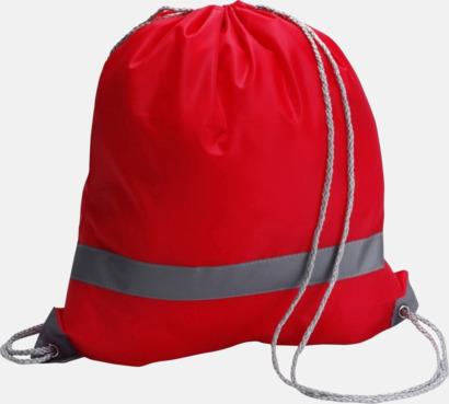 Röd Gymnastikpåse med reflexband - med reklamtryck