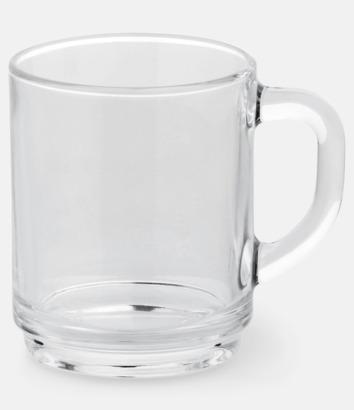 Transparent Stilfullt teglas med reklamtryck