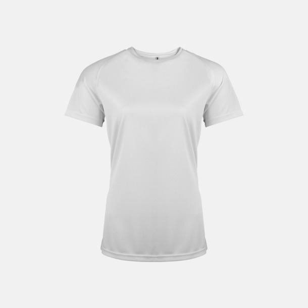 Vit Sport t-shirts i många färger för damer - med reklamtryck