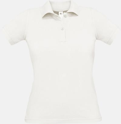 White Pikétröjor med tryck för dam