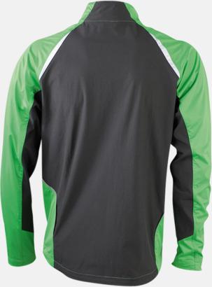 Grön/Carnbon (rygg) Vindtäta jackor med eget tryck