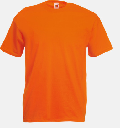 Orange Valueweight t-shirt med tryck