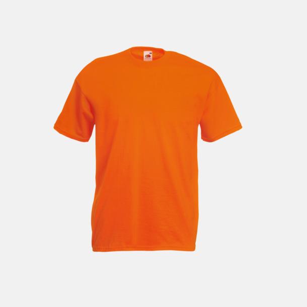Orange Valueweight t-shirt med tryck