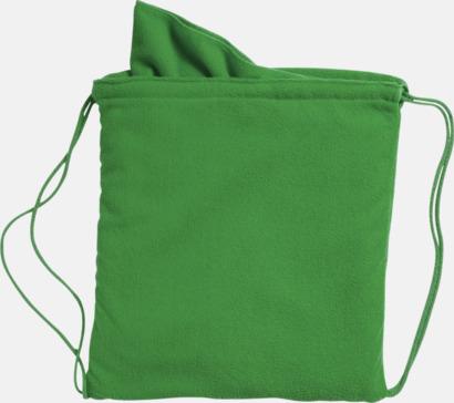 Grön Gymnastikpåse med matchande handduk med reklamlogga