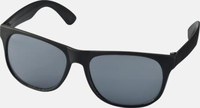 Svart Klassiska solglasögon med bågar i kontrasterande färg - med tryck