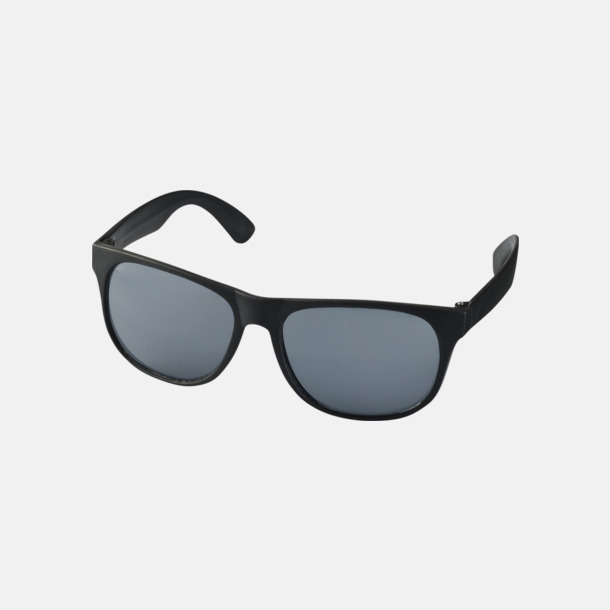 Svart Klassiska solglasögon med bågar i kontrasterande färg - med reklamtryck