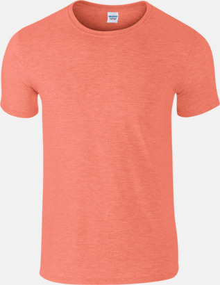 Heather Orange Billiga t-shirts med tryck