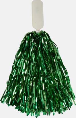 Grön Små, glittriga pom-poms med reklamtryck