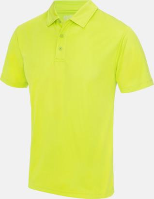Electric Yellow Färgglada pikétröjor med reklamtryck