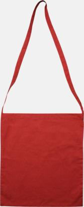 Röd Färgglada bomullskassar med reklamtryck i slingmodell