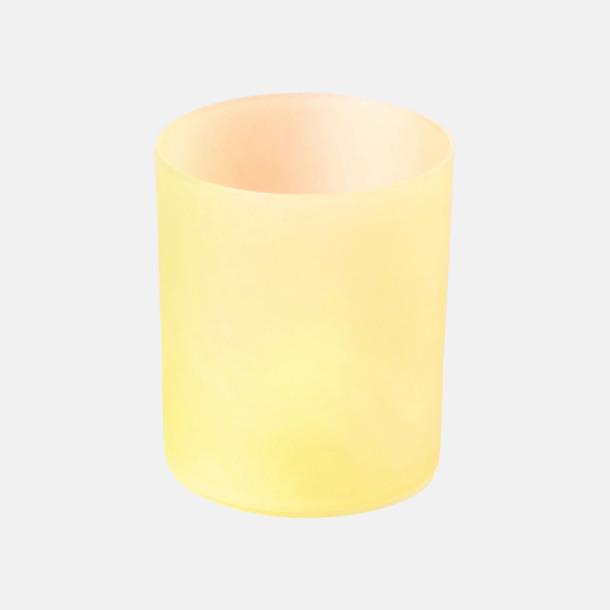 Gul Lykta med LED-lampa - med reklamtryck
