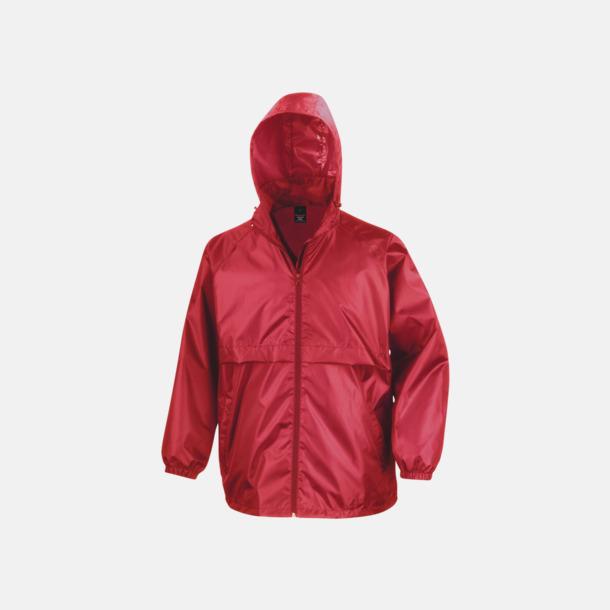 Röd Vindtäta jackor med reklamtryck