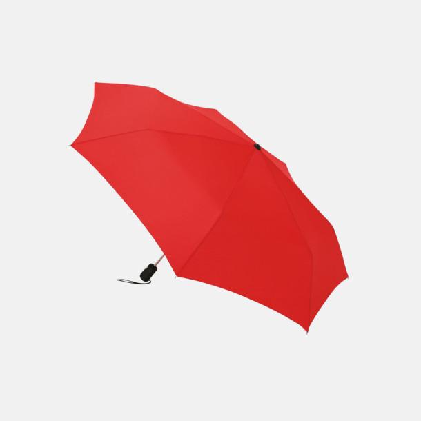 Röd Basildon kompakt - små paraplyer med reklamtryck