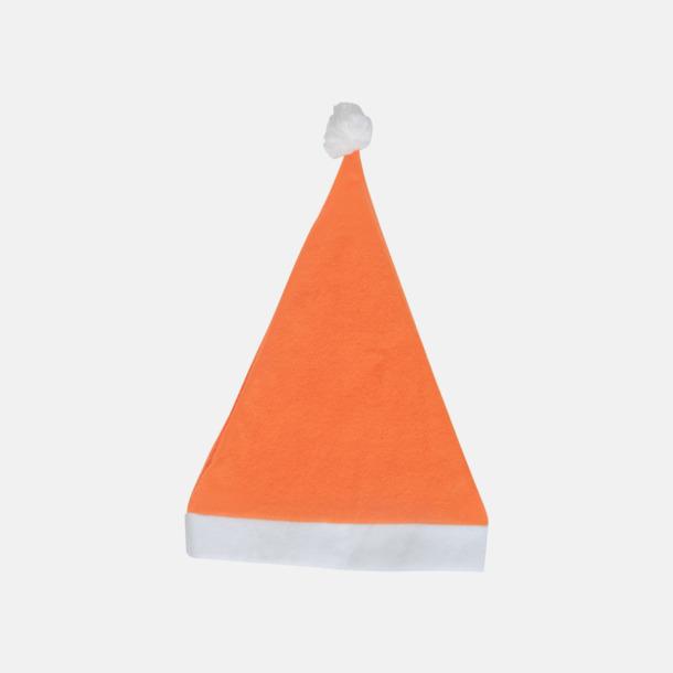 Orange Tomteluvor i många färger med reklamtryck