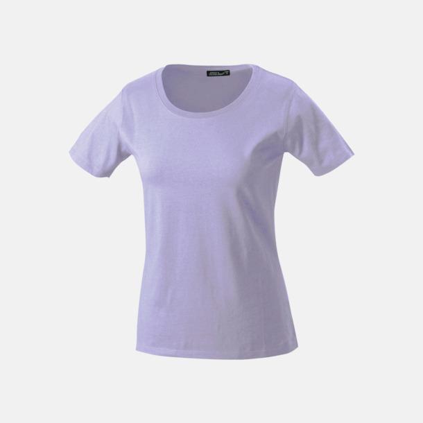 Lilac T-shirtar av kvalitetsbomull med eget tryck