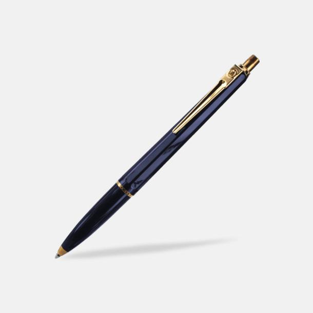 Mörkblå (bläckpenna) Ballografpennor med eget tryck