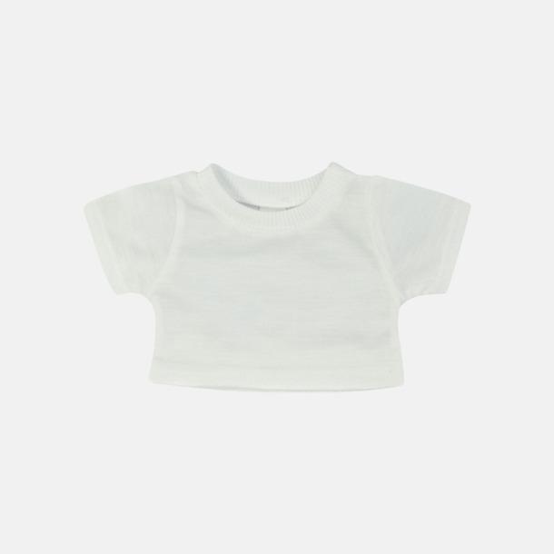 Vit Enfärgade t-shirts för gosedjur - med reklamtryck
