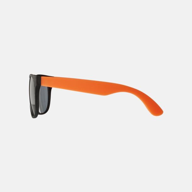 Klassiska solglasögon med bågar i kontrasterande färg - med reklamtryck