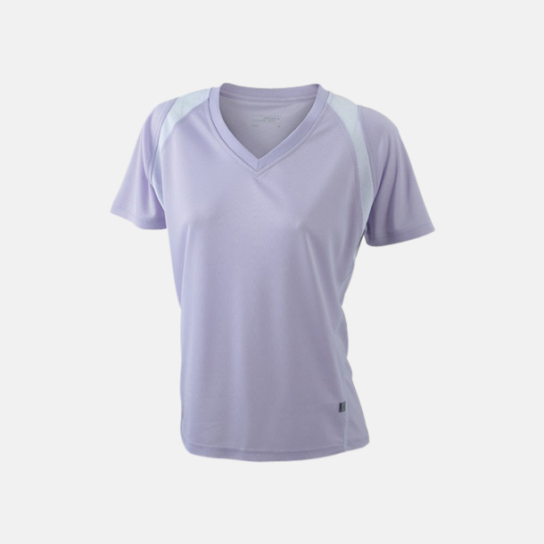 Lilac/Vit Flerfärgade funktionströjor med eget tryck