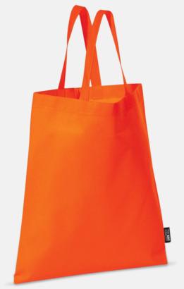 Orange (korta handtag) Billiga kassar med korta eller långa handtag - med reklamtryck