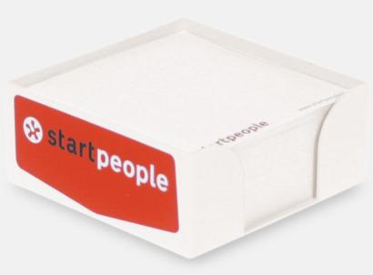 Plastkub med papper - med reklamtryck