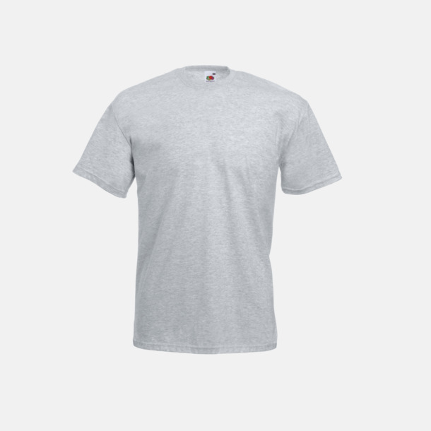 Heather Grey Valueweight t-shirt med tryck