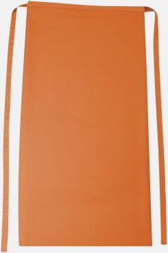 Orange Långa förkläden i många färger med reklamtryck