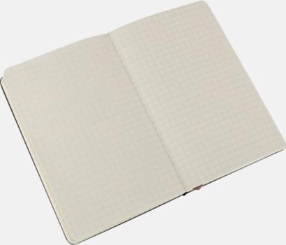 Squared (rutad) Moleskines mindre anteckningsböcker med linjerade eller rutade sidor - med reklamtryck