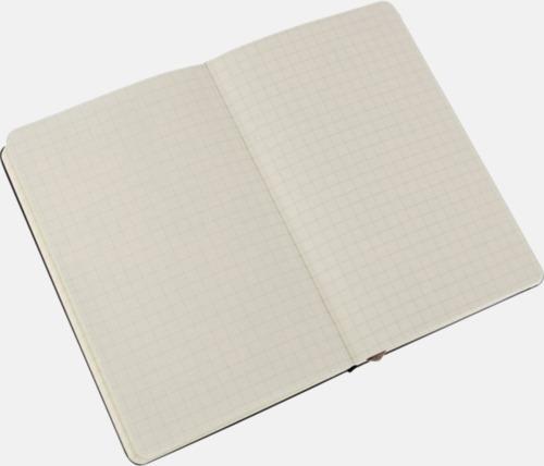 Squared (rutad) Moleskines mindre (ca A6) anteckningsböcker med linjerade eller rutade sidor - med reklamtryck
