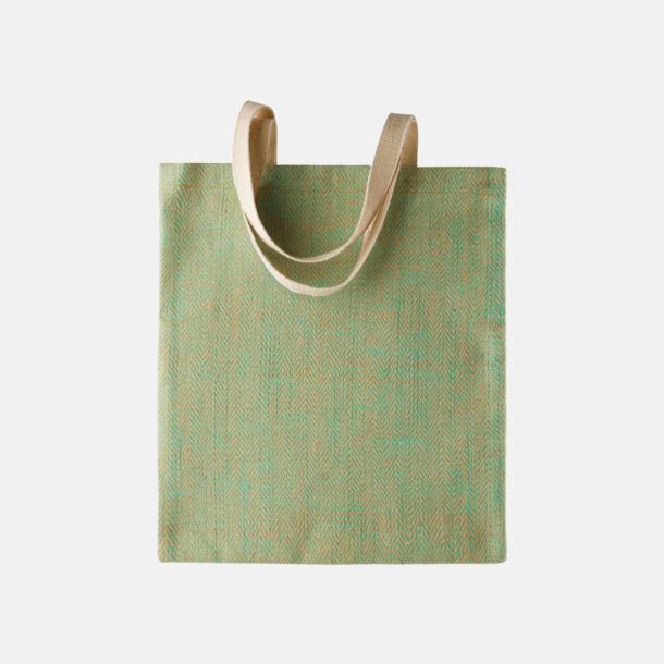 Water Green/Natur Miljövänliga jutebagar med reklamtryck