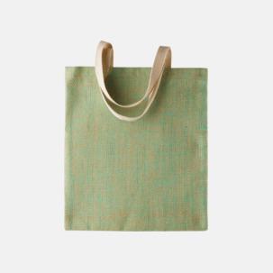 Miljövänliga jutebagar med reklamtryck