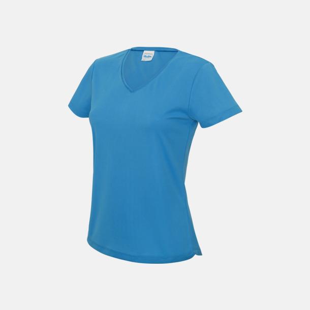 Sapphire Blue Damtröjor i funktionsmaterial med reklamtryck