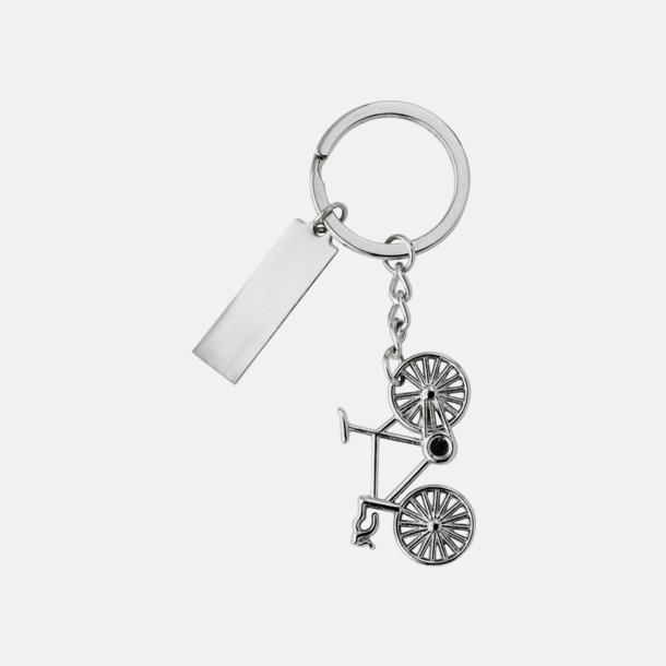 Silver Detaljrika cykelnyckelringar med gravyr