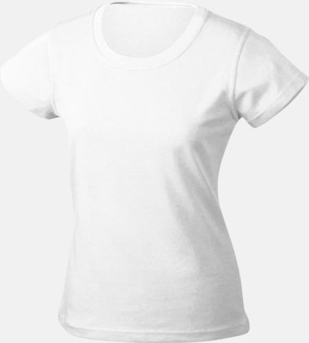 Vit Träningskläder Dam med reklamtryck