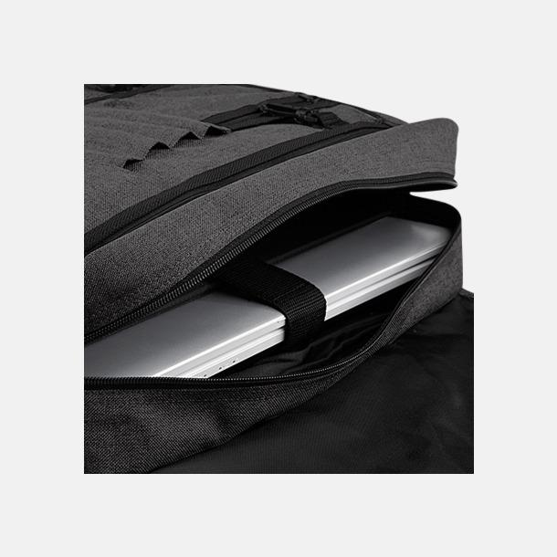 Laptop axelväskor i tvåton med reklamtryck