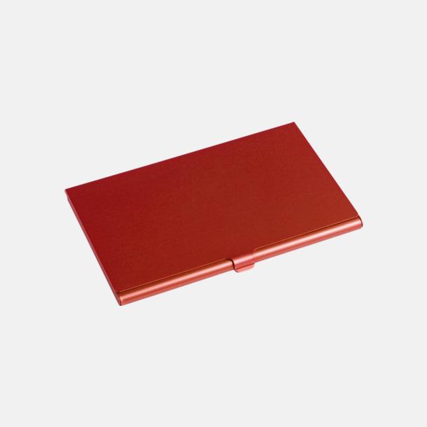 Röd Visitkortsfodral med eget tryck