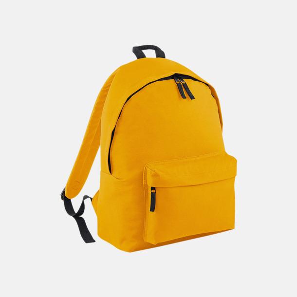 Mustard Klassisk ryggsäck i 2 storlekar med eget tryck