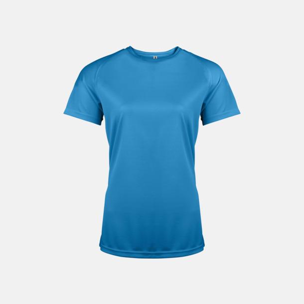 Aqua Blue Sport t-shirts i många färger för damer - med reklamtryck