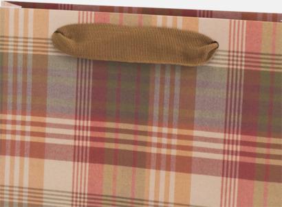 Grosgrain ribbon Skräddarsydda papperspåsar med reklamtryck