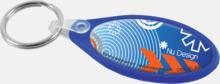 Oval plastnyckelring